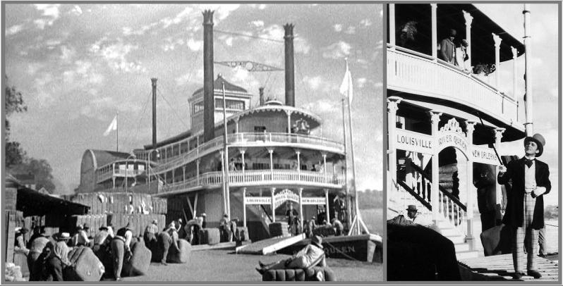 Show Boat Universal 1936 matte shot and set River Queen