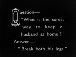 SHOULD MARRIED MEN GO HOME 1928