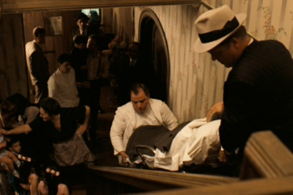 Don Corleone arrives home from the hospital