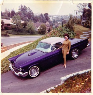 Annette Funicelle and her 1957 Thunderbird