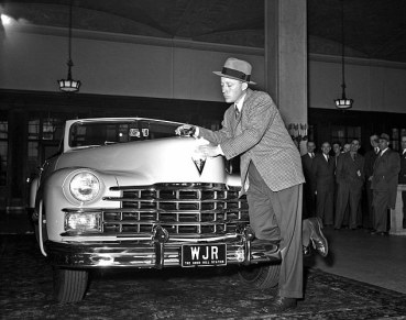 Bing and his Cadillac in 1947