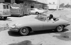 Dean Martin arrives at NBC studios in his Jaguar