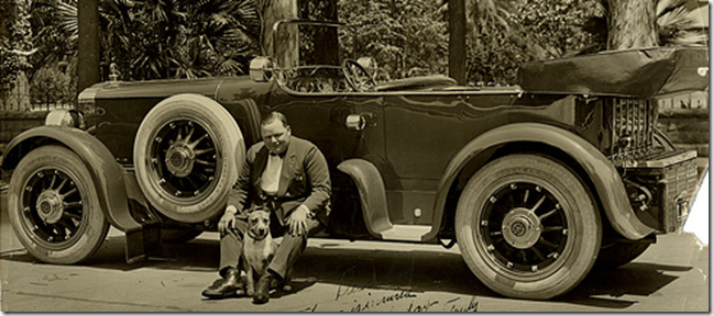 Roscoe Arbuckle and his 1919 Pierce Arrow