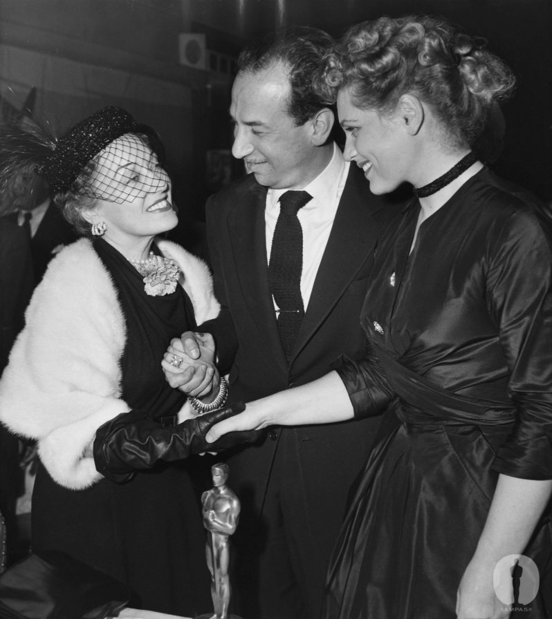 Swanson, Ferrer and Holliday on Academy Award night in 1951
