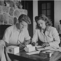 Jean Pierre Aumont and Maria Montez Answering Fan Mail