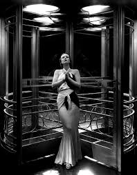 Joan Crawford at the Grand Hotel doors