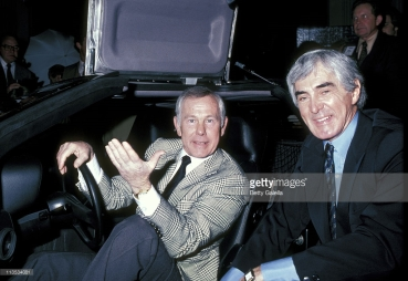Johnny Carson in a DeLorean with DeLorean