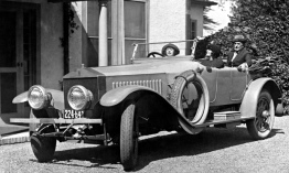 Mabel Normand in a Rolls
