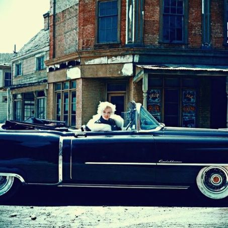 Marilyn and her Cadillac
