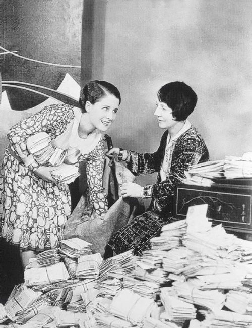 Norma Shearer and her mother Edith