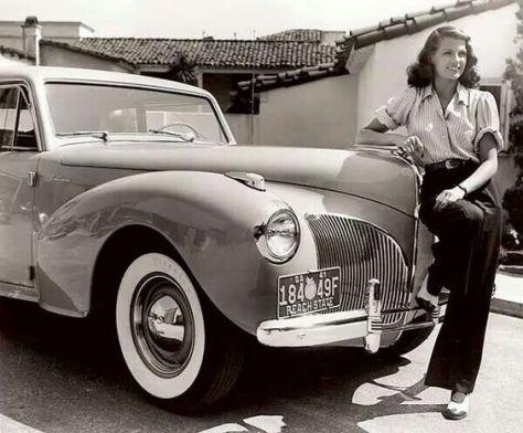 Rita and a 1941 Lincoln