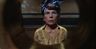 Ruth Gordon at the door