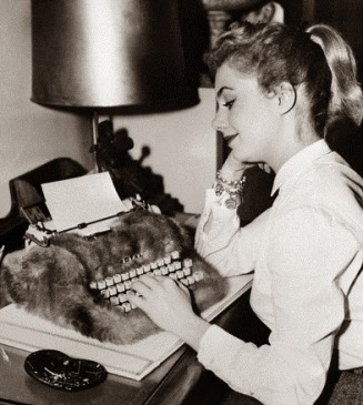 Shirley Jones answering fan mail