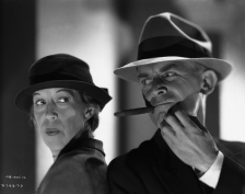 Edna Mae Oliver and James Gleason in The Penguin Pool Murder 1932