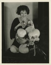 Myrna Loy and large eggs