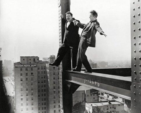 On a skyscraper