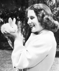Norma Shearer and bunny