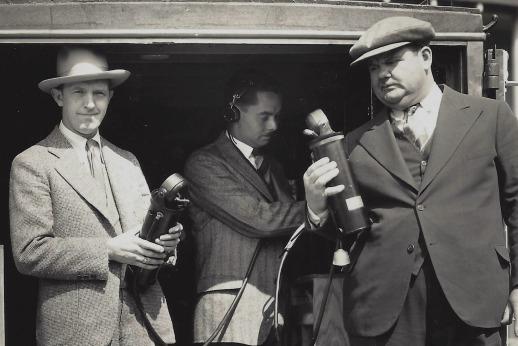 Stan Laurel, Elmer Raguse and Oliver Hardy