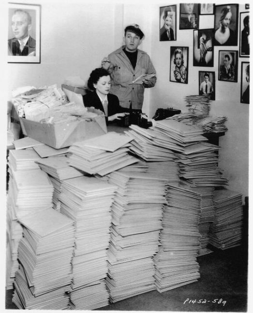 Bing Crosby and his fan mail