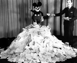 Disney's Mickey with his fan mail