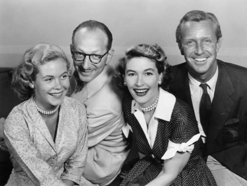 Ensemble of Robert Montgomery Presents -Elizabeth Montgomery, Vaughn Taylor, Margaret Hayes and John Newland.
