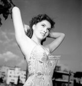 Gina Lollobrigida in a photo shoot in Rome
