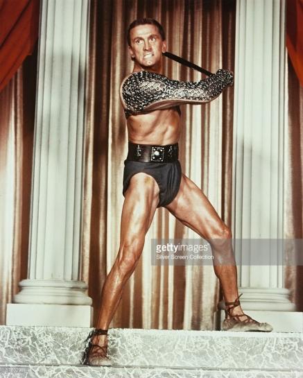 Kirk Douglas as Spartacus in Spartacus