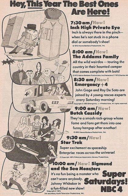 Pac-man and smurfs saturday morning cartoons tv guide, 198… | flickr.