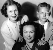 With her brother Robert Montgomery Jr. (Skip) and their mom Elizabeth