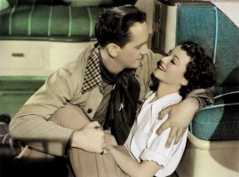 With Janet Gaynor in A Star is Born