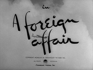 A Foeign Affair