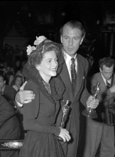 At the Academy Awards with Joan Fontaine