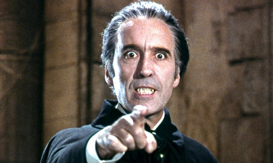 Christopher Lee in Dracula