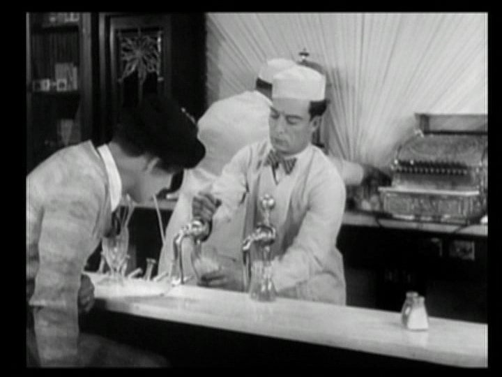 Ronald makes a mess of things as a soda jerk