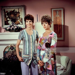 The Pigeon sisters on TV - Gwendolyn (Carole Shelley) and Cecily (Monica Evans)