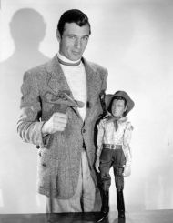 With a Gary Cooper puppet c. 1930