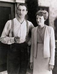 With Amelia Earhart