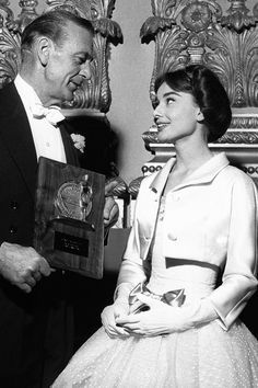 With Audrey Hepburn