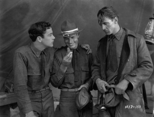 With Buddy Rogers, Richard Arlen in wings 1927