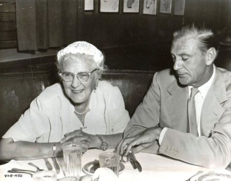 With his mom, Olive Cooper