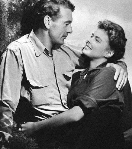 With Ingrid Bergman in For Whom the Bell Tolls