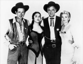 With Lloyd Bridges, Katy Jurado and Grace Kelly in High Noon