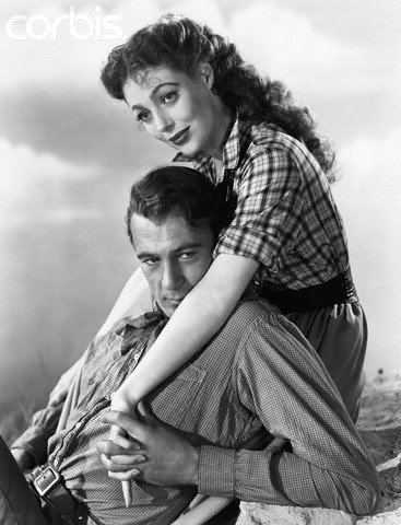 Gary Cooper and Loretta Young in Along Came Jones