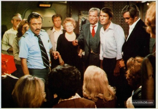 Airport '77 - Publicity still with Joseph Cotten, Jack Lemmon and others
