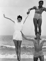 Ava, Burt Lancaster and...Yoga Instructor perhaps