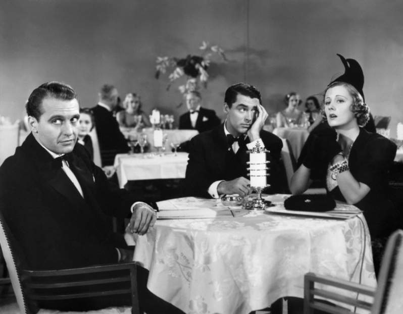 Bellamy with Cary Grant and Irene Dunne in THE AWFUL TRUTH