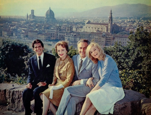 George Hamilton, Olivia de Havilland, Rossano Brazzi and Yvette Mimieux - from Light in the Piazza