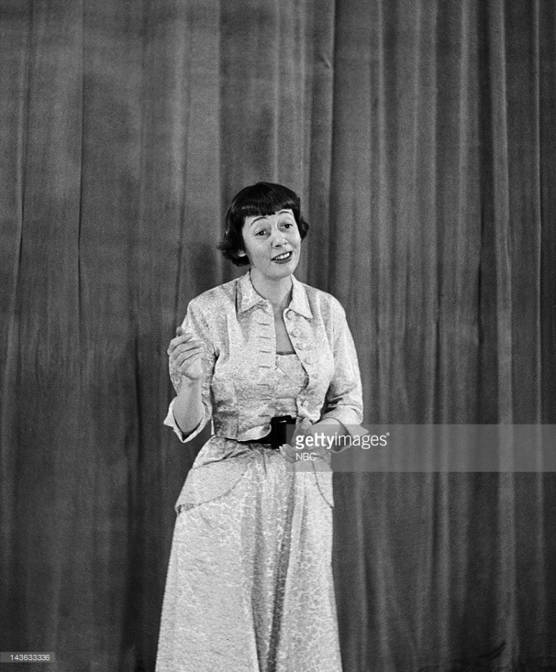"Imogene during the first episode of ""Your Show of Shows"""