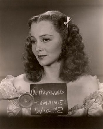 Olivia de Havilland hair and make up test for The great Garrick 1937