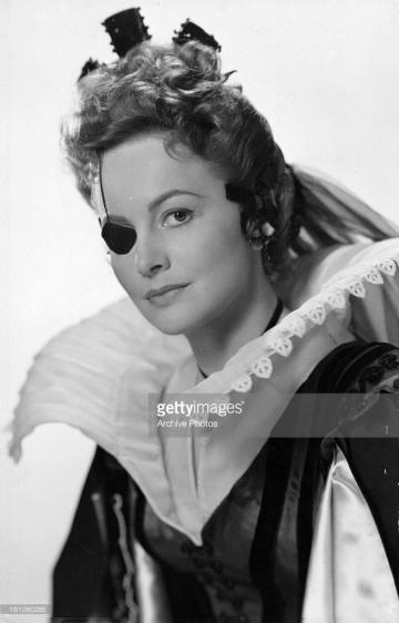 Olivia de Havilland in publicity portrait for the film 'That Lady', 1955.